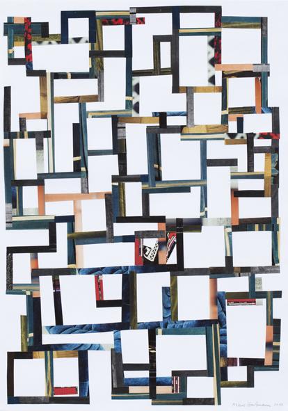 Uden titel, collage, 72 x 52 cm