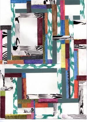 'Uden titel', collage, Malene Hartmann